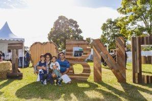 Green Heart Fair, family photo, I love Brisbane sign, fair
