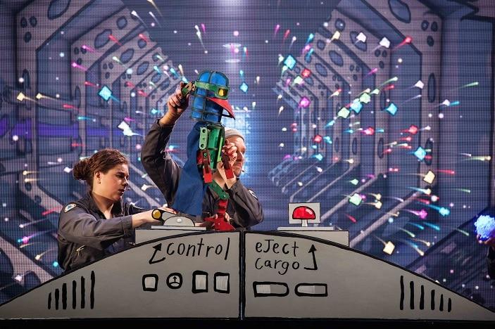laser beak man control image. Laser Beak Man in the control room, dead puppet society