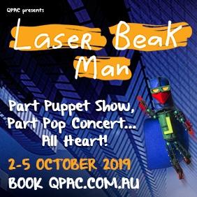 laserbeak man qpac