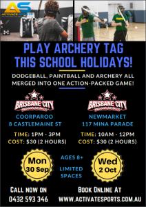 Activate Sports Archery Tag Program, school holiday programs