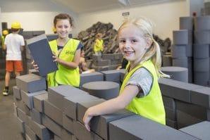 Construction-Site-blocks-Ipswich ARt Gallery, kids building with blocks