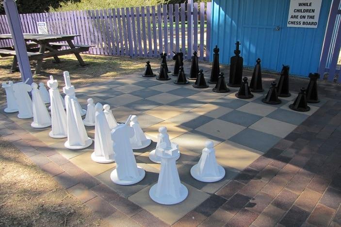 jumbo chess at The Granite Belt maze