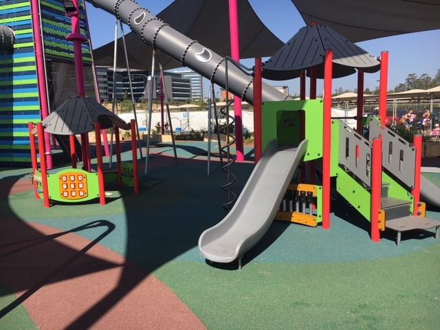 orion playground, slides