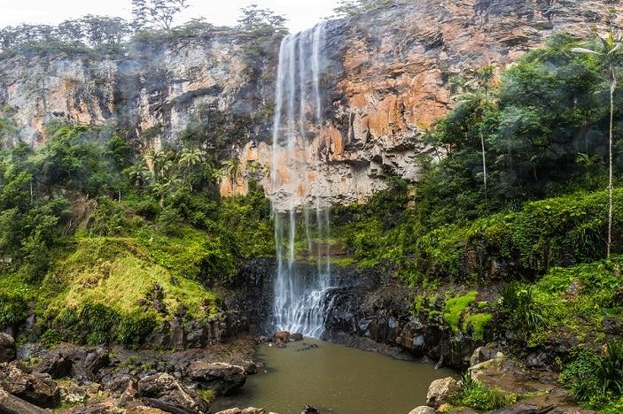 Purlingbrook falls in the Gold Coast Hinterland, Queensland, Australia