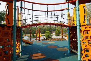 wibbly bridge in hills district playground