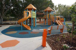 orange outdoor playground, arana hills
