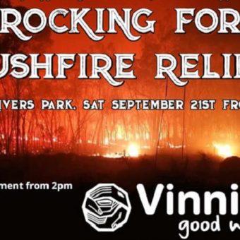 rocking for bushfire relief