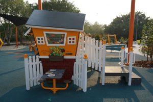 bright orange toddler playground