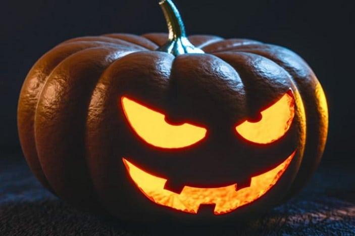 Halloween pumpkin BCC, evil jack-o-lantin