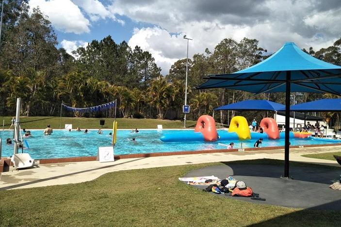 inflatable on pool
