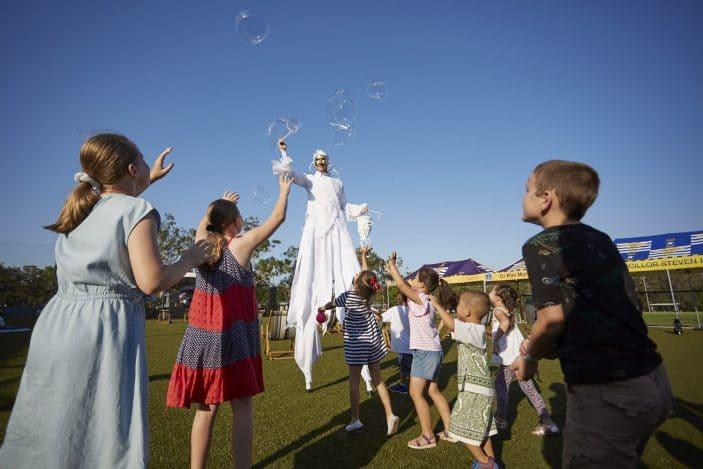 Summerfest 2019, stilt walkers, roaming entertainment