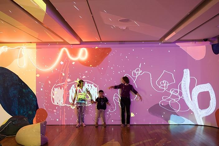 Museum of Brisbane light wall