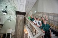 Museum of Brisbaneschool group on stairs