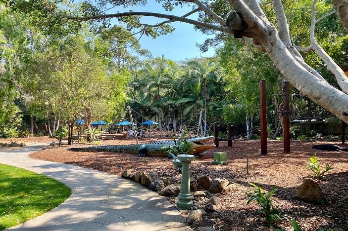 Wild Island playground area at Currumbin Wildlife Sanctuary