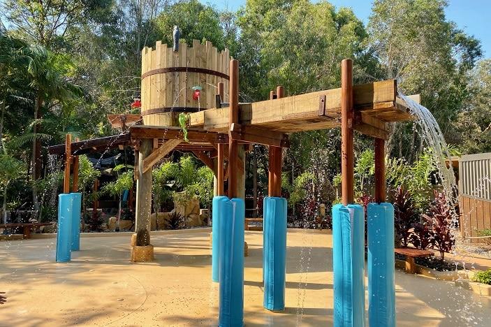 Water play area at Currumbin Wildlife Sanctuary