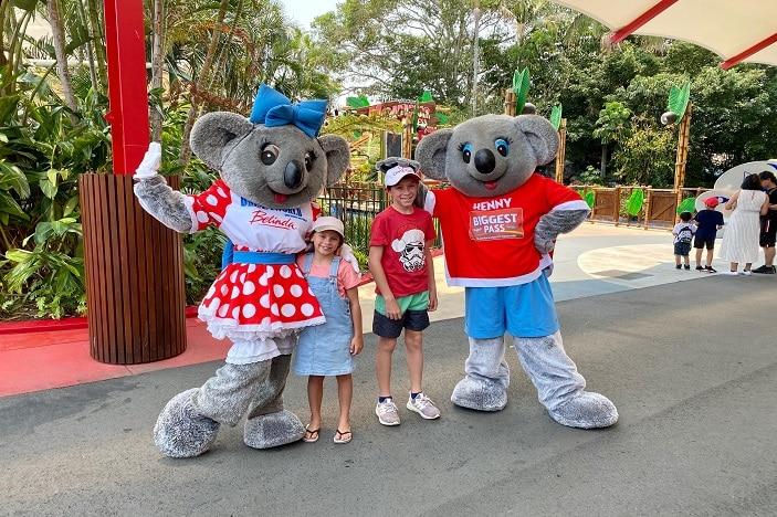 Kenny Koala and Belinda Koala at Dreamworld