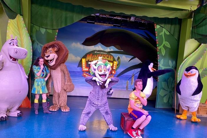 Madagascar show at Dreamworld