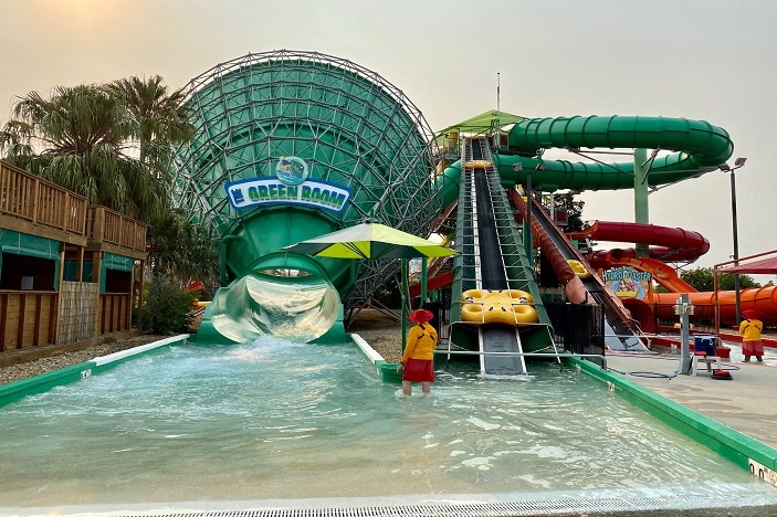 The Green Room waterslide at WhiteWater World