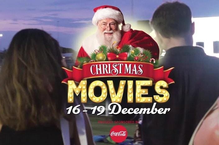 big screen on the green christmas