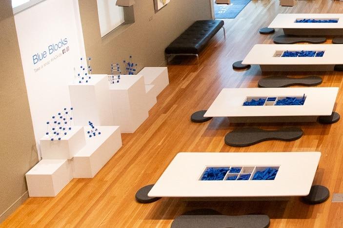 blue block activity ipswich art gallery