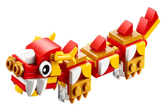 lego mini build workshop, chinese dragon
