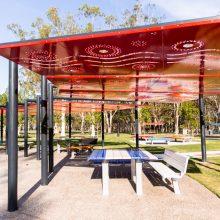 new seating at Logan Gardens water play park