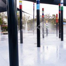 Logan Gardens water play totem spray forest