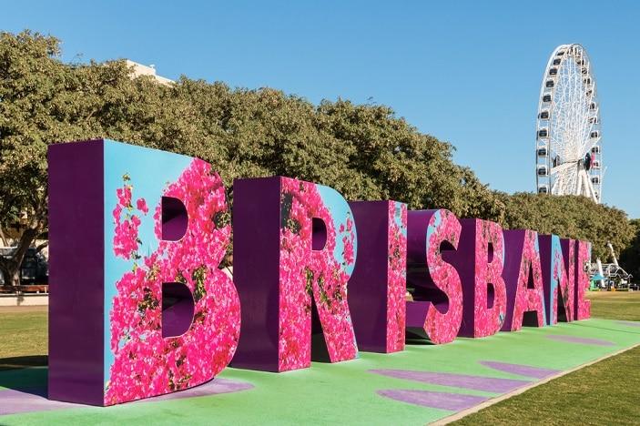 brisbane sign at southbank