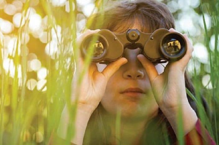 wild-about-nature, boy looking through binoculars