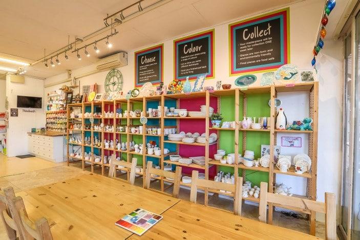 Inside Colour My Pot studio