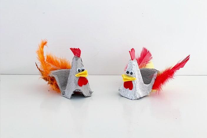 Easter Craft: Egg Carton Chicken