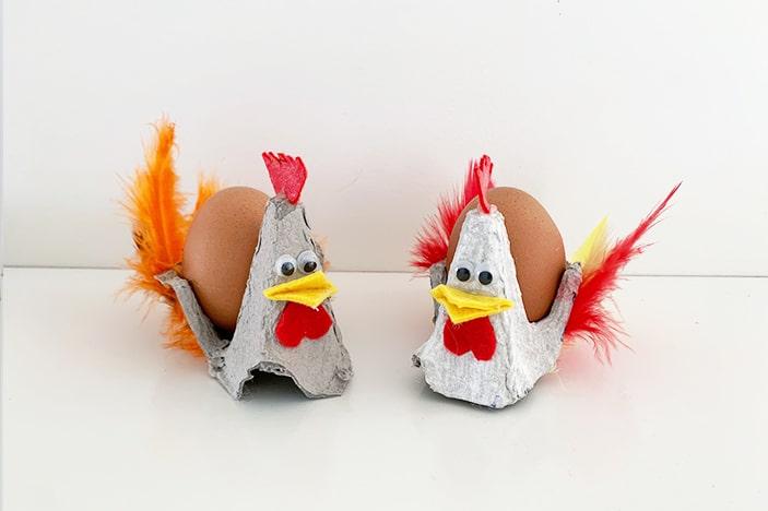Egg Carton Chicken Easter Craft