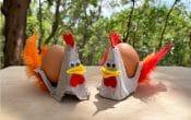Easter Craft Egg Carton Chicken