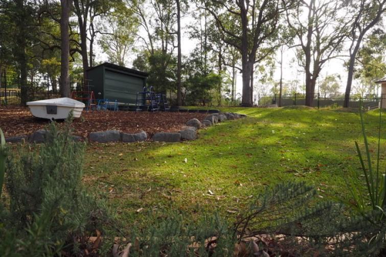 outdoor setting at kindergarten
