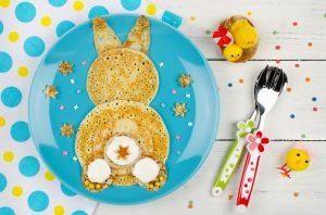 banana bunny pancake