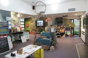 the interior of an environment centre