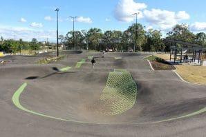 outdoor bmx track at darra