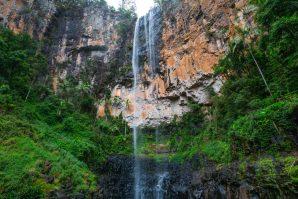 Purling Brook Falls from below
