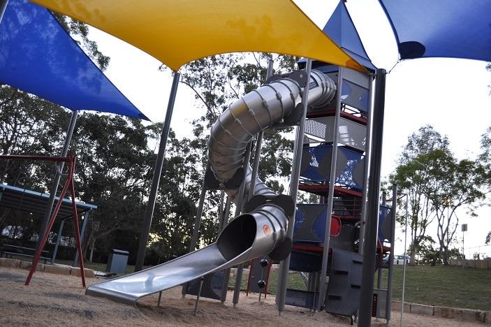 huge metal slide