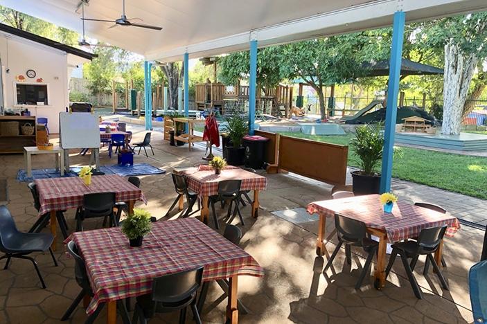 outdoor area at kindergarten