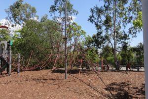 climbing nets at grande park
