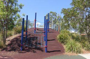 climbing nets aat springfield park outdoors