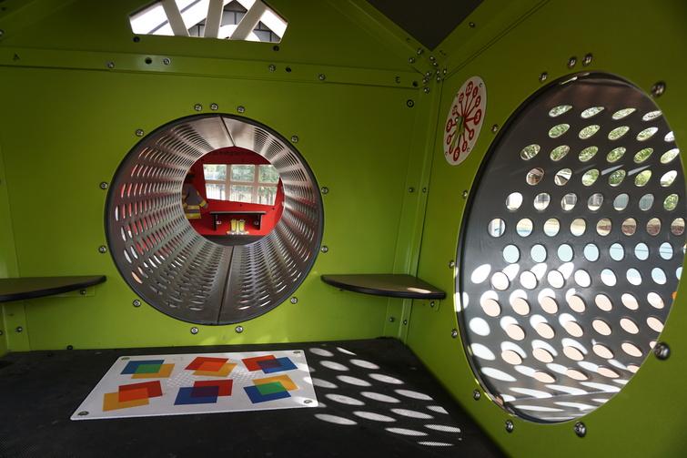 green tunnel play equipment