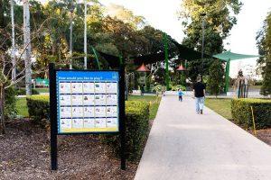 sign helping visitors around Brisbane Citty Botanic Gardens