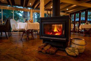 Fireplace in Rainforest Restaurant in Mount Tamborine