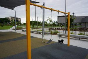 swings at hercules street park
