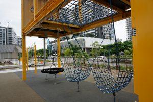 hammocks at a playground