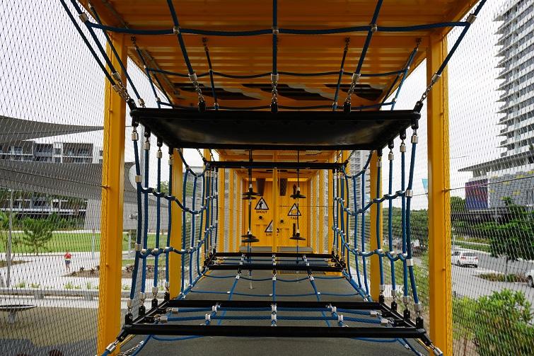 netting at hercules street playground