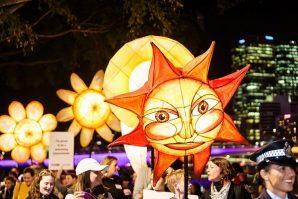 Luminous lantern parade