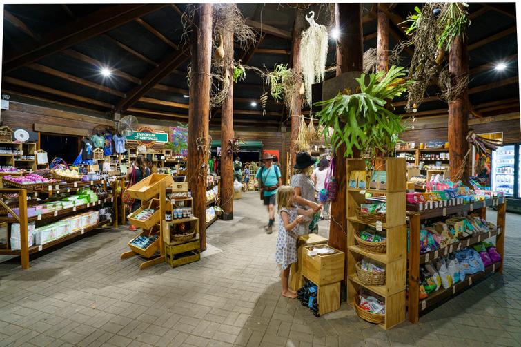 inside of general store at Woodfordia Bushtime